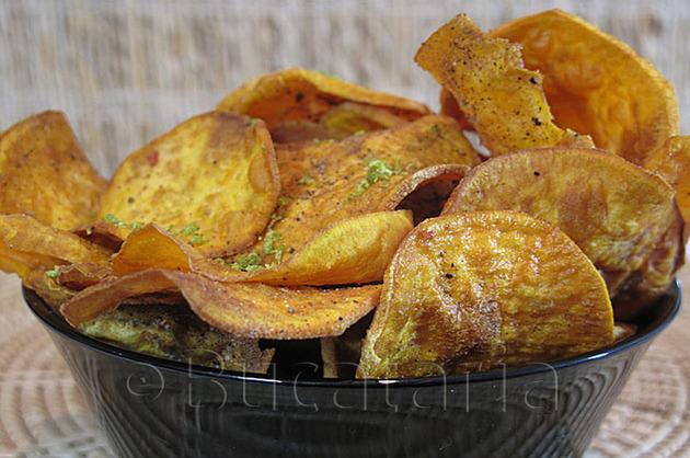 Chipsuri de cartofi dulci