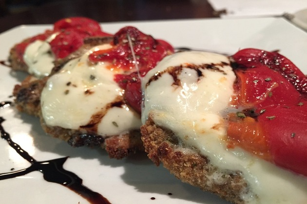 Rondele de vinete cu mozzarella