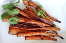Sticksuri de morcovi la grătar