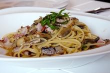 Spaghete cu kaizer şi ciuperci