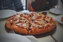 Pizza cu ciuperci şi bacon