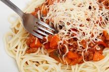 Spaghete cu morcov şi carne de vită