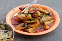 Cartofi la cuptor cu sos picant