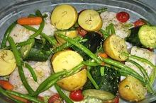 Cod cu legume la cuptor