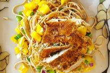 Spaghete cu piept de pui