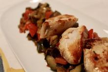 Muşchi de porc cu legume