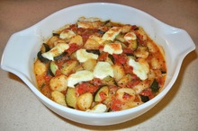 Mâncare de legume cu mozzarella
