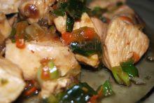 Pui stir-fry cu legume