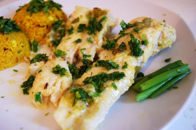 Pește cu ghimbir și ceapă verde