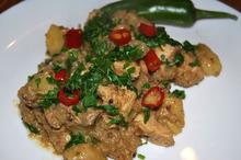 Curry de pui cu muștar