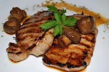 Cotlete picante cu ciuperci