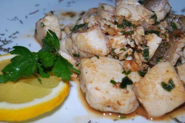 Pește cu sos iute