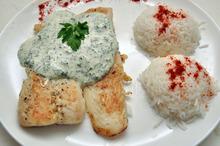 Pește alb cu sos de mărar