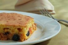 Prăjitură cu brânză şi stafide
