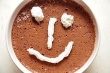Înghețată de cacao cu ciocolată