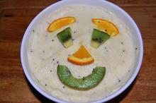 Înghețată cu kiwi, portocale și ananas