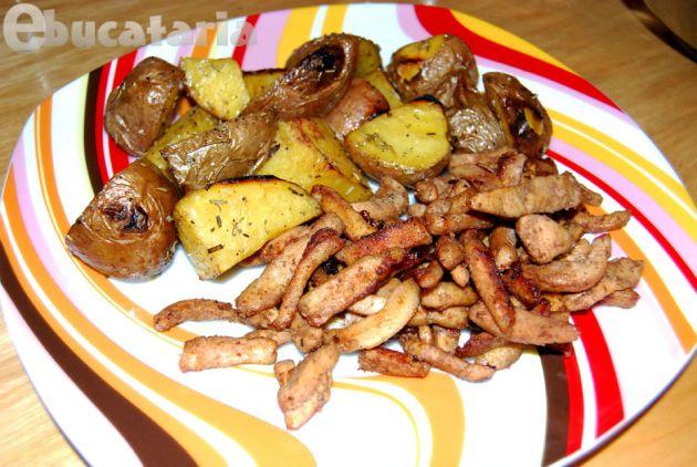 Un fel de pui teriyaki cu cartofi la cuptor