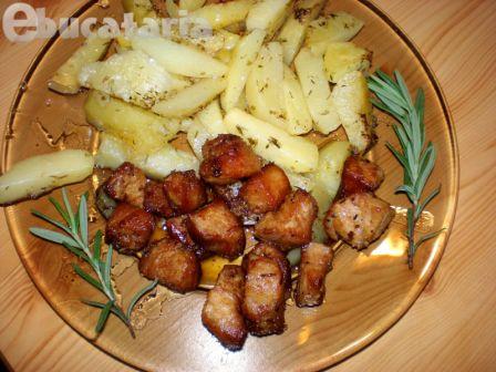 Porc în vin și cartofi cu lămâie