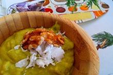 Cremă de kiwi şi cocos
