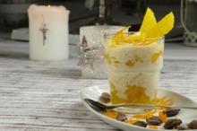 Desert cu lapte de cocos şi portocale