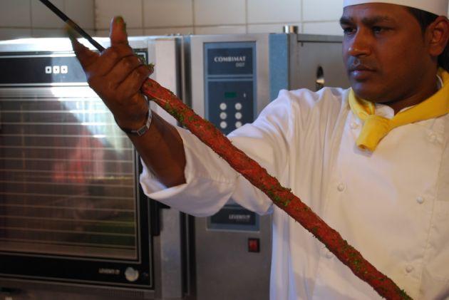Gosht ki seekh, sau kebab indian de miel